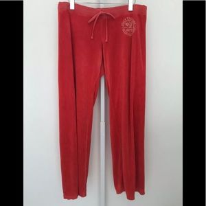 JUICY COUTURE GIRLS WHO LIKE STUFF RED PANTS XL